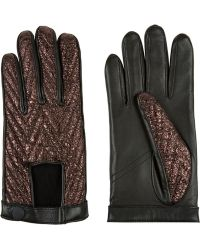 Rag & Bone Paneled Leather Gloves black - Lyst