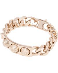 Balenciaga | Classic Pale Gold 3 Studs Bracelet | Lyst