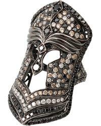Bochic - Mixed Diamond Mask Ring - Lyst