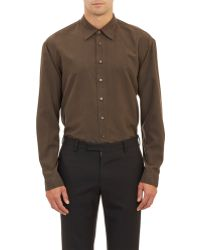 Burberry Prorsum Washed Silk Shirt gray - Lyst