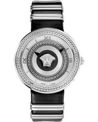 Versace Ladies V-icon Silver-tone Watch - Lyst