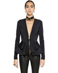 Givenchy Light Neoprene Jacket With Peplum - Lyst