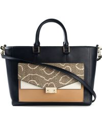 Tory Burch Contrast Pocket Tote Bag - Lyst
