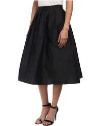 Adrianna Papell Taffeta Mid Length Skirt - Lyst