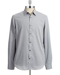 Calvin Klein Liquid Cotton Sportshirt - Lyst