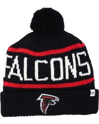 Mens Atlanta Falcons '47 Brand Red Raised Cuffed Knit Hat