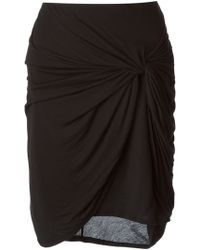 Helmut Lang Fitted Twist Detail Skirt - Lyst