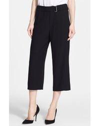 IRO Belted Wide Leg Crop Pants - Lyst