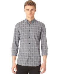 Calvin Klein Optic Jacquard Slimfit Shirt - Lyst