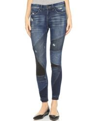 Blank - Patchwork Distressed Jeans - Lyst