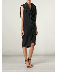 Vivienne Westwood Anglomania Draped Pleated Dress - Lyst