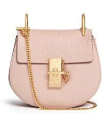 Chlo�� Drew Mini Leather Cross-Body Bag in Pink (marshmallow) | Lyst