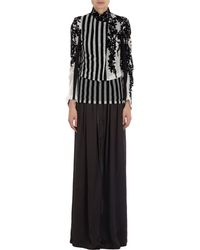 Ann Demeulemeester Floral and Stripes Cropped Jacket - Lyst