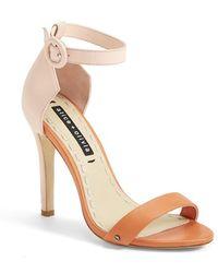 Alice + Olivia 'Gala' Ankle Strap Leather Sandal - Lyst