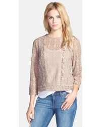 Hinge Scalloped Lace Top - Lyst