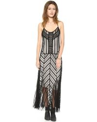 Free People Meadows Of Lace Slip Dress Black - Lyst