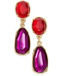 Lauren by Ralph Lauren - Crystal Drop Earrings - Lyst