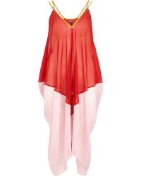 River Island Red Colour Block Cocoon Maxi Dress - Lyst
