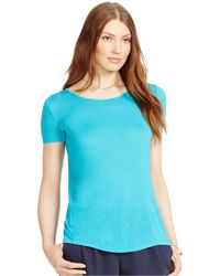 Lauren by Ralph Lauren Split-Back T-Shirt - Lyst