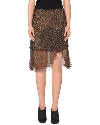 Shirt Passion - Knee Length Skirt - Lyst