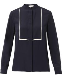 Stella McCartney Caroline Bicolour Silk Blouse - Lyst