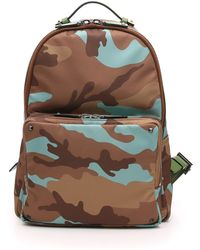 Valentino Men'S Camo Nylon Backpack - Lyst