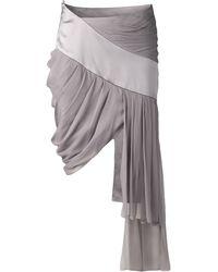 Prabal Gurung Drape Side Skirt with Long Side - Lyst