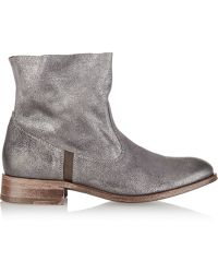 NDC - Sandrine Softy Metallic Suede Ankle Boots - Lyst
