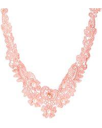 Asos Faux Pearl Bib Choker Necklace - Lyst