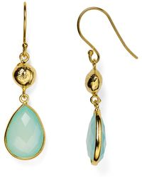 Argento Vivo Teardrop Earrings blue - Lyst