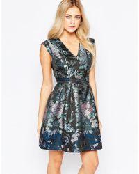 Oasis | Butterfly Jacquard Skater Dress | Lyst