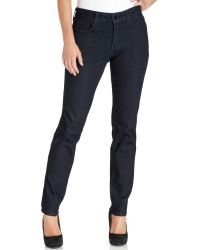 Not Your Daughter's Jeans Nydj Sheri Skinny Jeans Dark Enzyme Wash - Lyst