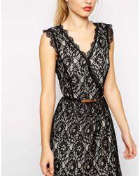 Oasis Lace Plunge Neck Maxi Dress - Lyst