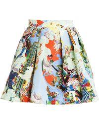 Mary Katrantzou Twill Mini Skirt multicolor - Lyst