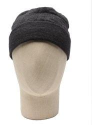 Fendi Charcoal Wool Blend Knit Cap - Lyst