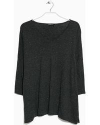 Mango Metal Thread Sweater gray - Lyst