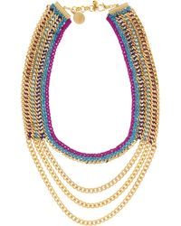 Venessa Arizaga Cabo Goldplated And Woven Necklace - Lyst