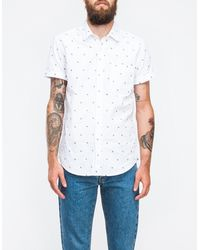 Topman Zig Zag Embroidered Shirt - Lyst