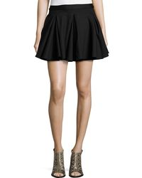 Torn By Ronny Kobo Pleated Stretch-Knit A-Line Skirt - Lyst