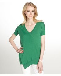Autumn Cashmere Emerald Green Cotton Cashmere Blend Tshirt - Lyst