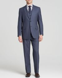 Canali Solid Super 120S Three-Piece Suit - Classic Fit - Bloomingdale'S Exclusive blue - Lyst