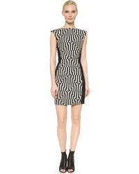 Gareth Pugh Sleeveless Dress - Black/White black - Lyst