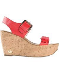MICHAEL Michael Kors 'Warren' Wedge Sandals - Lyst