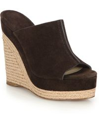 Michael Kors | Charlize Suede Espadrille Wedge Sandals | Lyst
