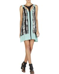 BCBGMAXAZRIA Amelia Printed Cutout Dress - Lyst