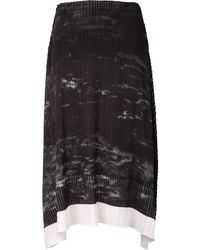 Issey Miyake Forest Pleated Skirt - Lyst