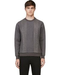 Diesel Black Gold Grey Zipped Stufstuds Sweatshirt - Lyst