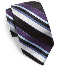 XMI Platinum - Striped Silk & Linen Tie - Lyst