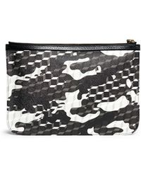 Pierre Hardy | Camouflage Cube Print Zip Pouch | Lyst