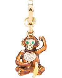 Juicy Couture - Monkey Charm in Metallic Gold - Lyst